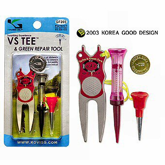 Green Repair Tool, Golfballmarker & VS TEE L & xS