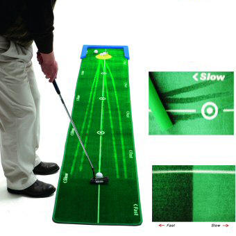 Track Putting Matte gerade Putts Tempo Speed unterschiedliche Breaks