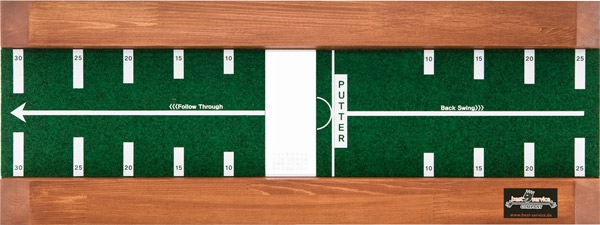Track Putting Plate raining aids to improve your putting stroke, alignment, contact and confidence