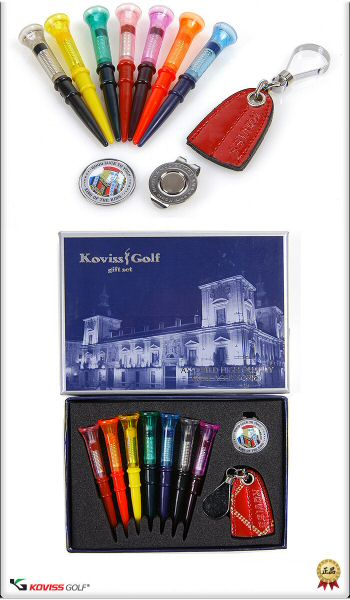 golf-giftset golf-tournament-gift golfaccessories golftees golfballmarker powerful magnetic clip leather teeholder