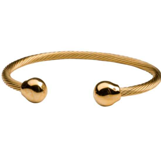 317 professional steel twist magnetic gold bracelet. Black Bedroom Furniture Sets. Home Design Ideas